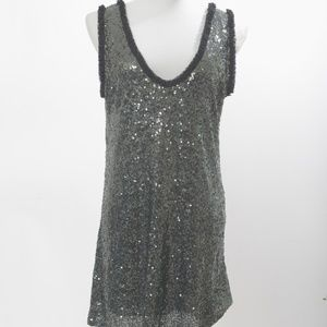 Zara Woman Small Sequin Party Dress Low Back NWT